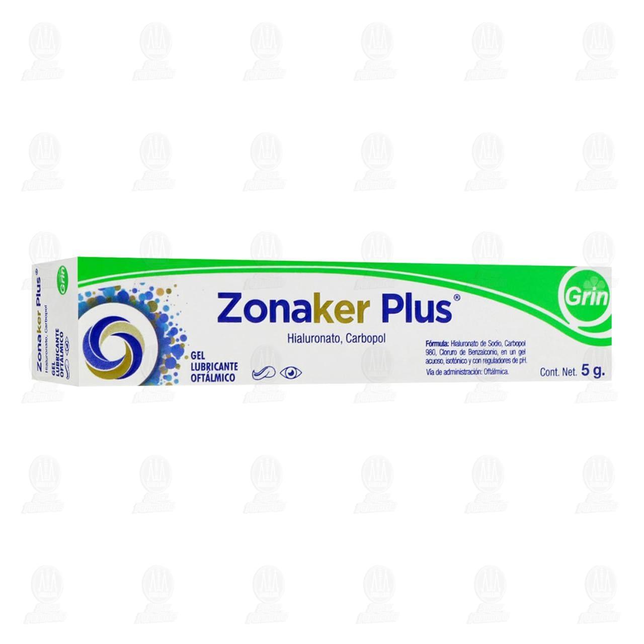 Comprar Zonaker Plus 5gr Gel Lubricante Oftálmica en Farmacias Guadalajara