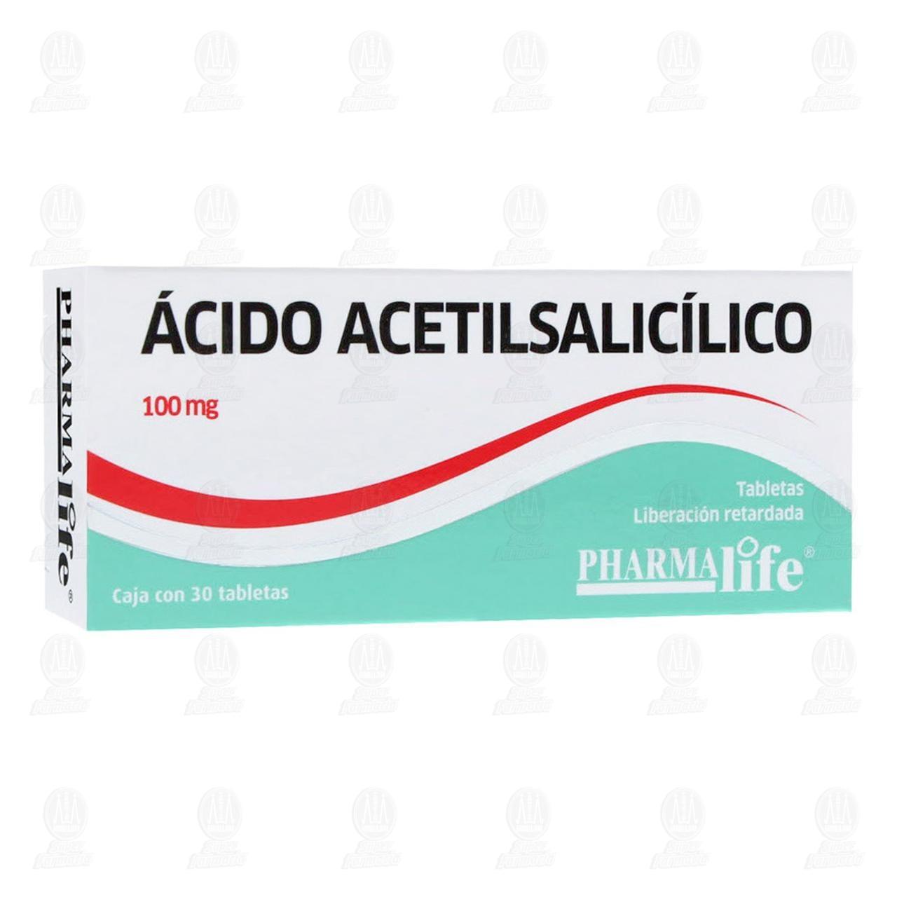 Comprar Ácido Acetilsalicílico 100mg 30 Tabletas Pharmalife en Farmacias Guadalajara