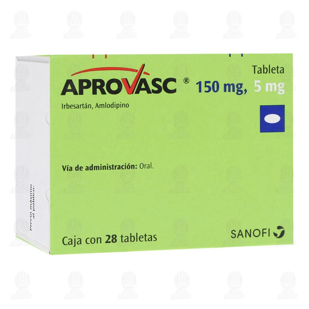 Comprar Aprovasc 150/5mg 28 Tabletas en Farmacias Guadalajara