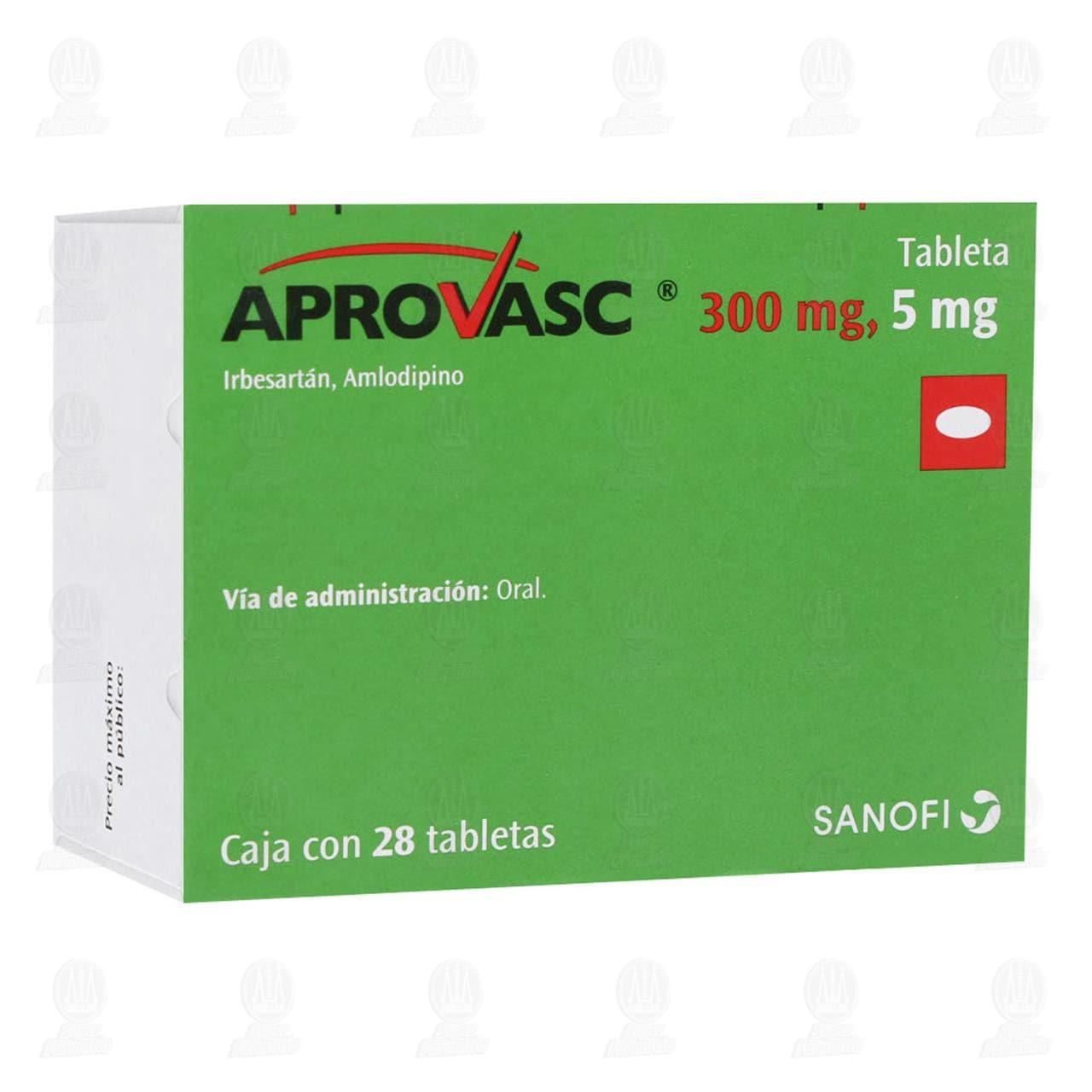 Comprar Aprovasc 300mg/5mg 28 Tabletas en Farmacias Guadalajara