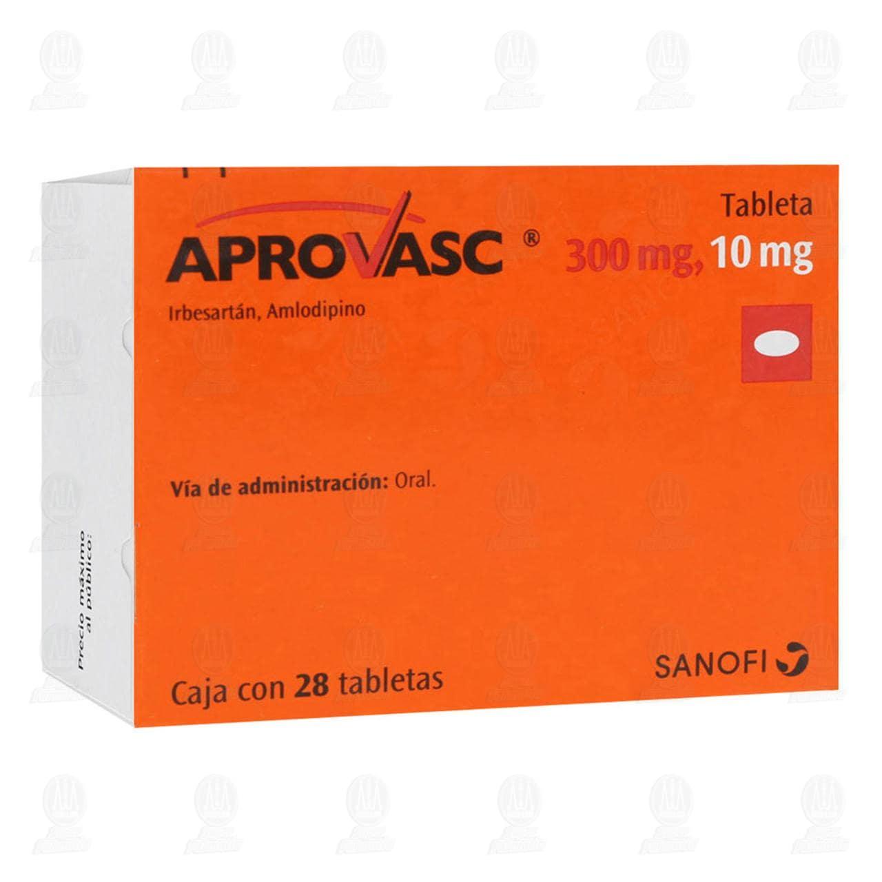 Comprar Aprovasc 300mg/10mg 28 Tabletas en Farmacias Guadalajara