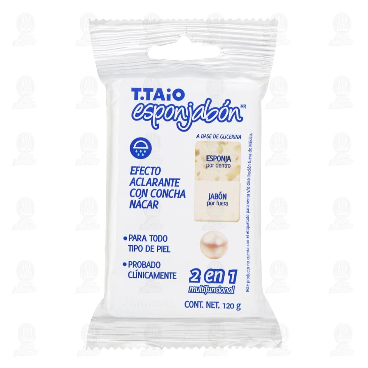 Esponjabón T.Taio Aclarante con Concha Nácar, 1 pz.