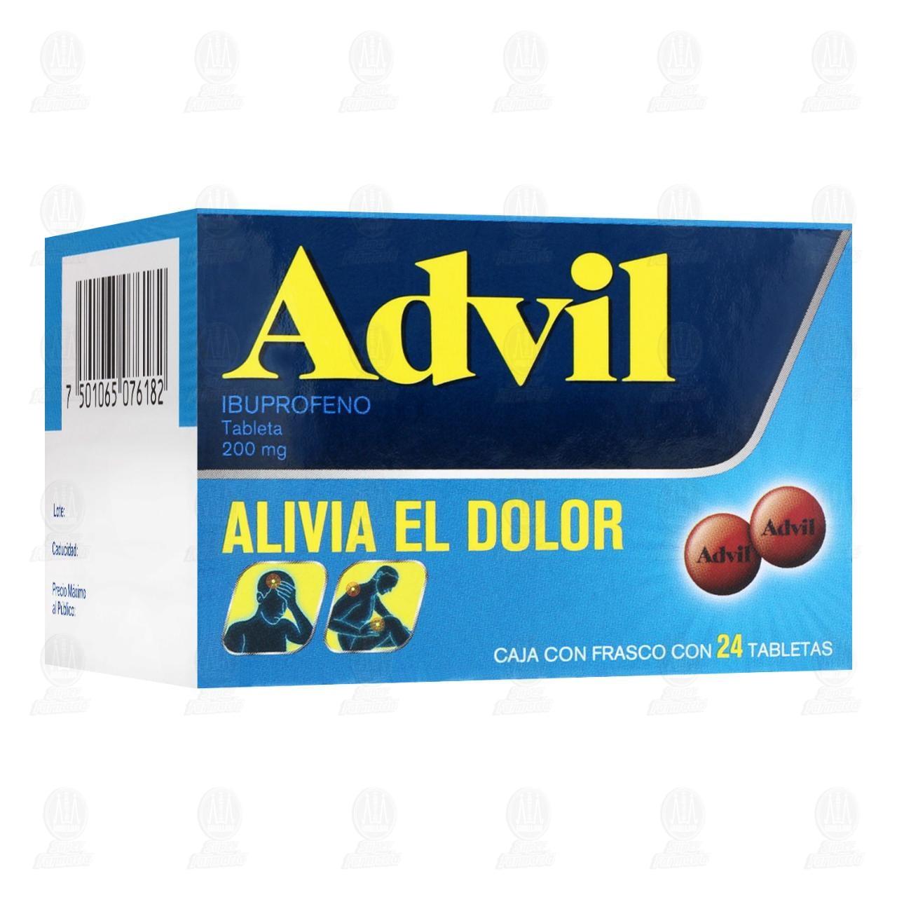 Comprar Advil 200mg 24 Tabletas en Farmacias Guadalajara