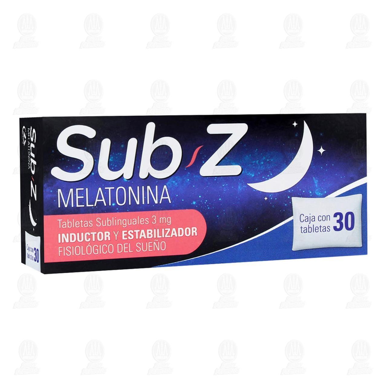 Comprar Sub-Z 3mg 30 Tabletas Sublinguales en Farmacias Guadalajara