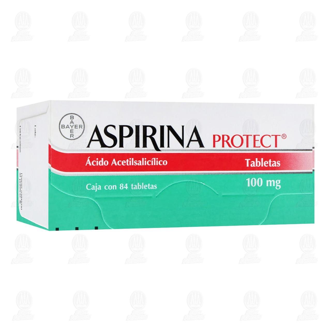 Aspirina Protect 100mg 84 Tabletas Liberación Retardada