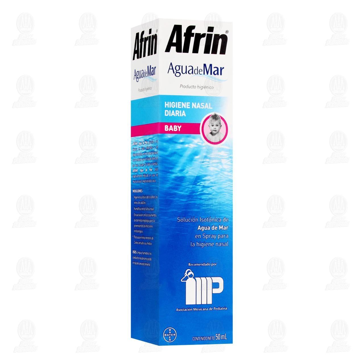 Comprar Afrin Pure Sea Baby Descongestión e Higiene Nasal Agua de Mar 50ml en Farmacias Guadalajara