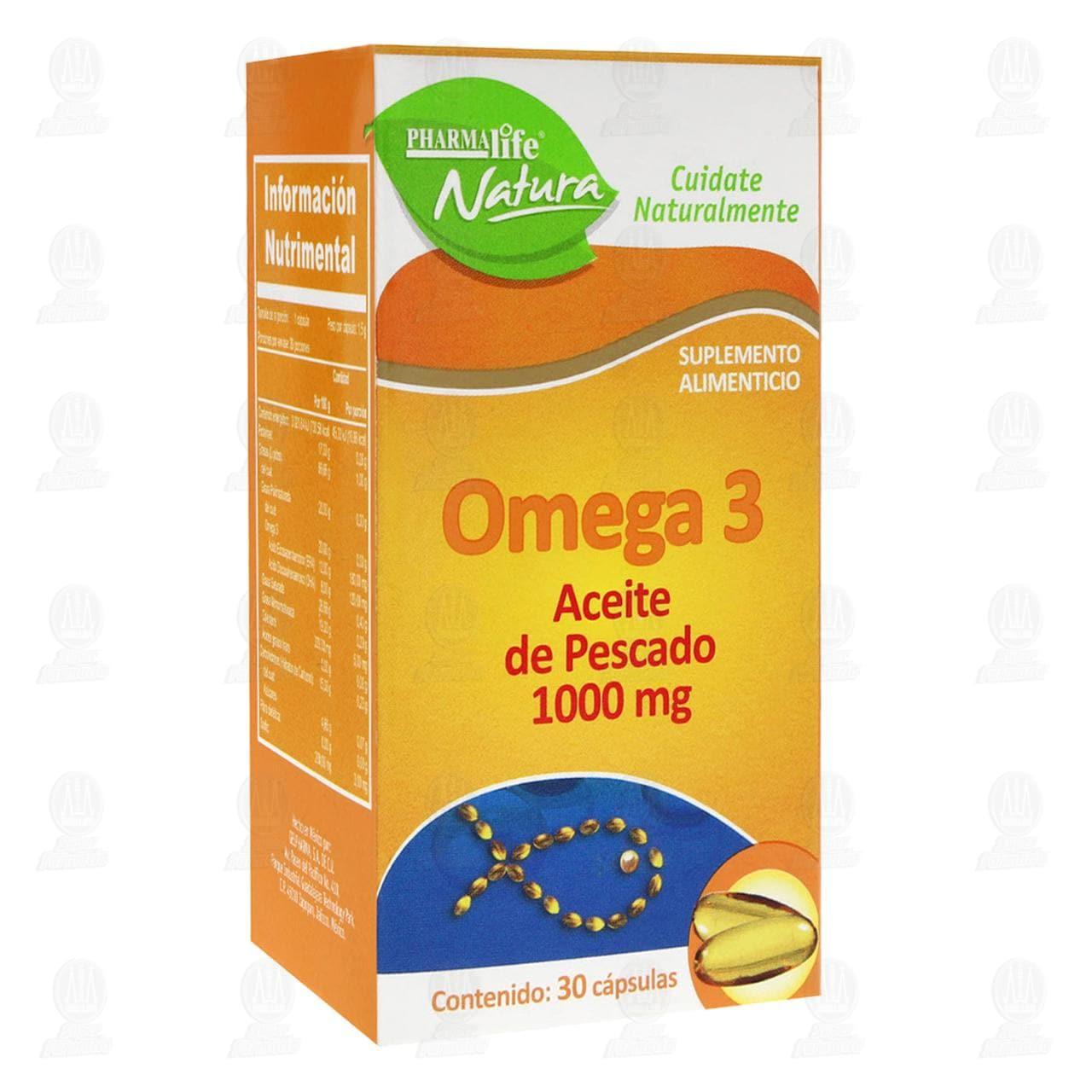 Comprar Omega 3 1000mg 30 Cápsulas Pharmalife Natura en Farmacias Guadalajara