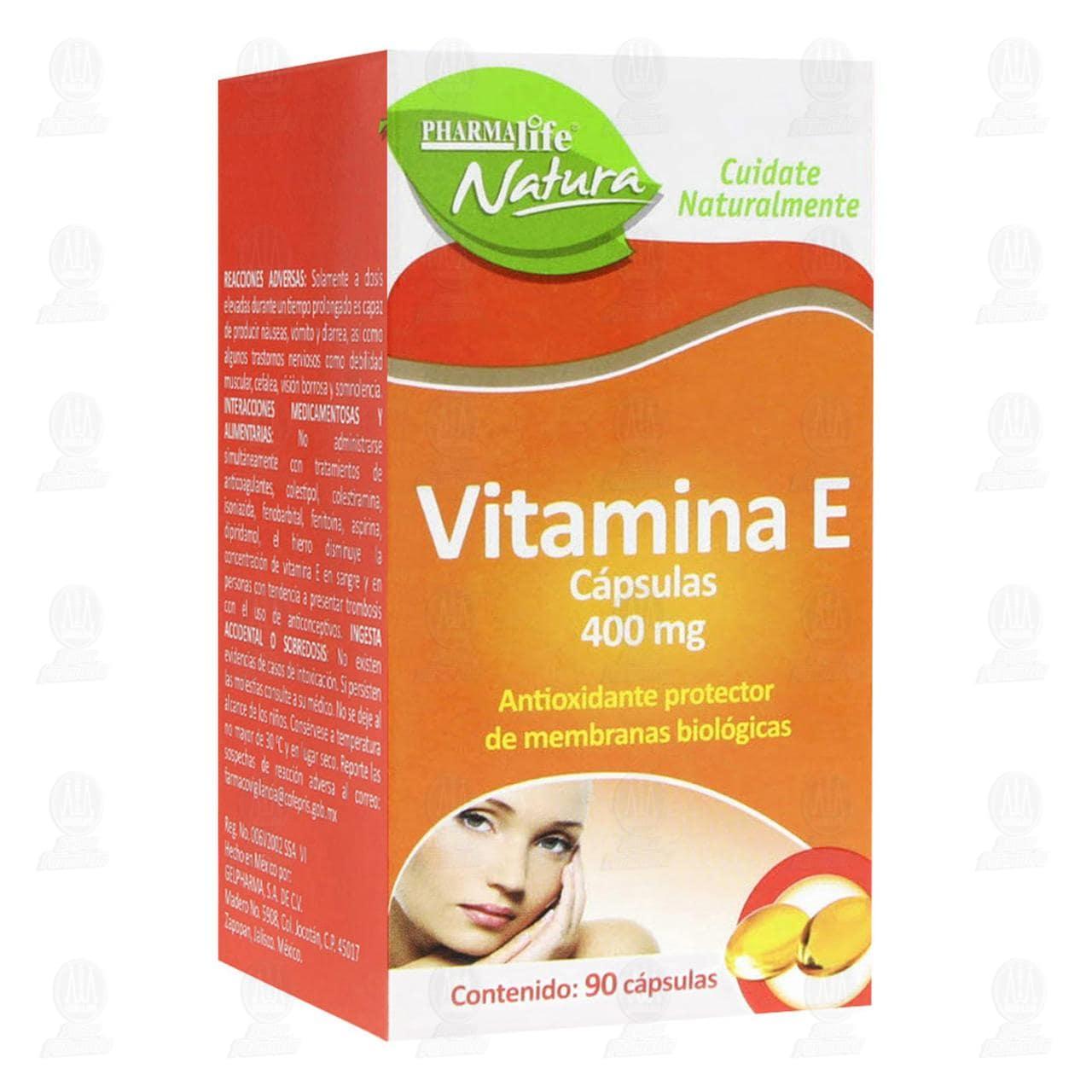 Comprar Vitamina E 400mg 90 Cápsulas Pharmalife Natura en Farmacias Guadalajara