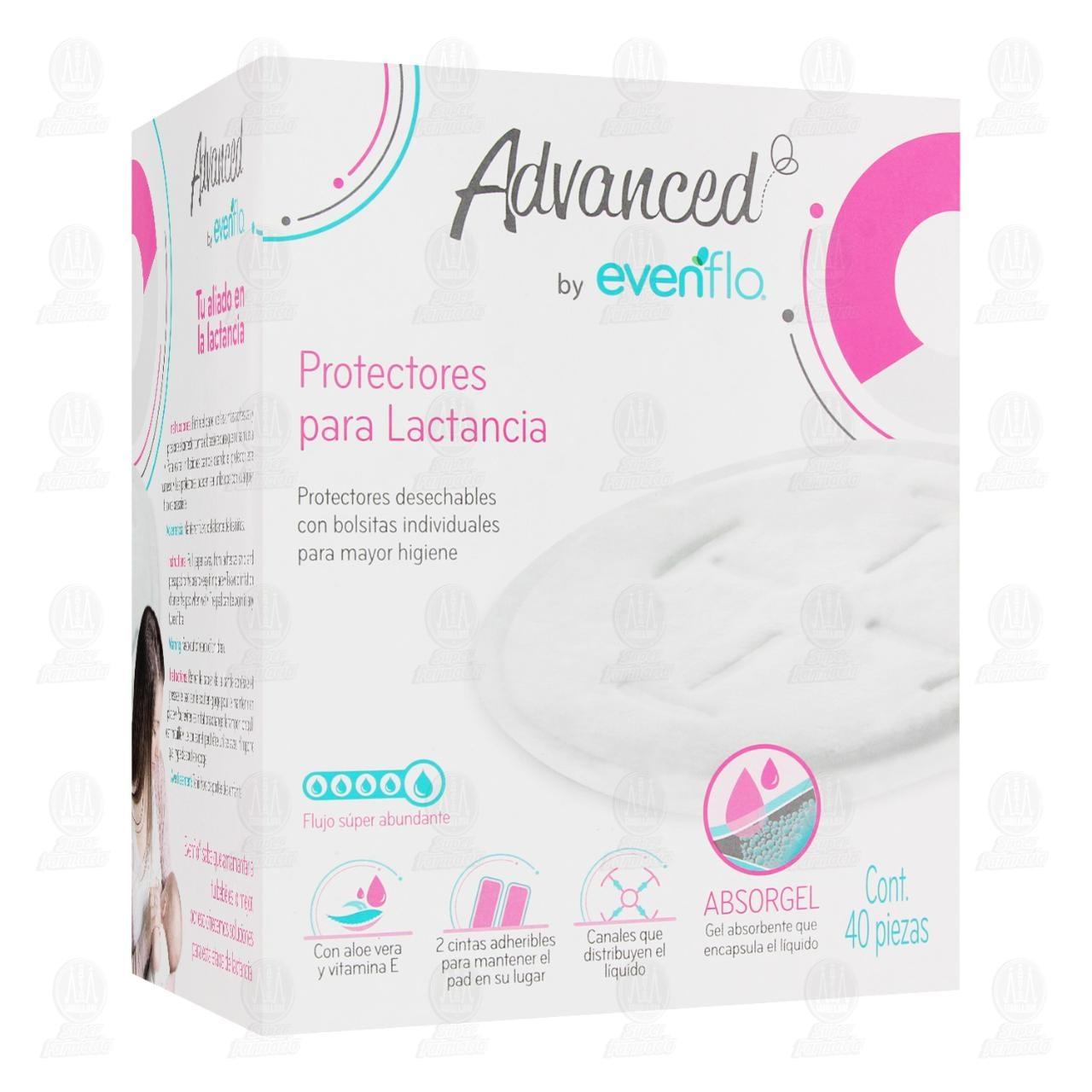 Protectores para Lactancia Evenflo Desechables con Gel Absorbente, 40 pzas.