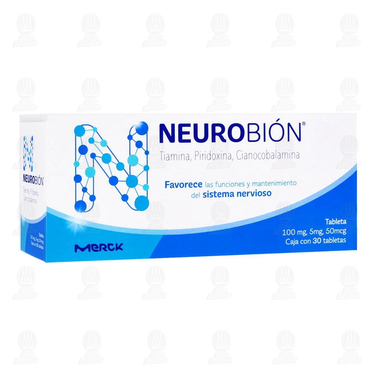 Comprar Neurobión 100mg/5mg/50mcg 30 Tabletas en Farmacias Guadalajara