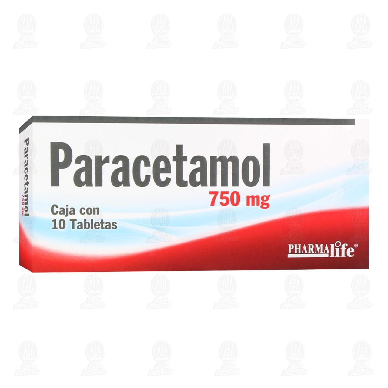 Comprar Paracetamol 750mg 10 Tabletas Pharmalife en Farmacias Guadalajara