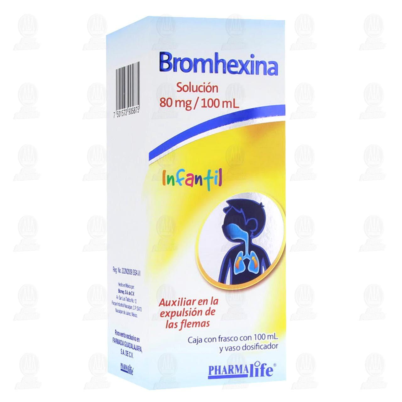 Comprar Bromhexina Solución Infantil 80mg 100ml Pharmalife en Farmacias Guadalajara