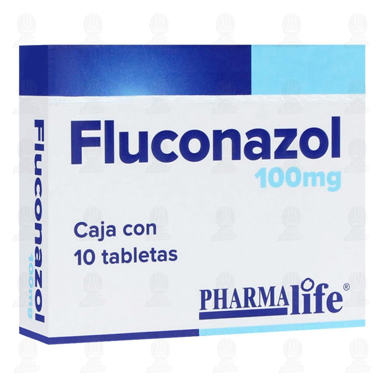 Comprar Fluconazol 100mg 10 Tabletas Pharmalife en Farmacias Guadalajara