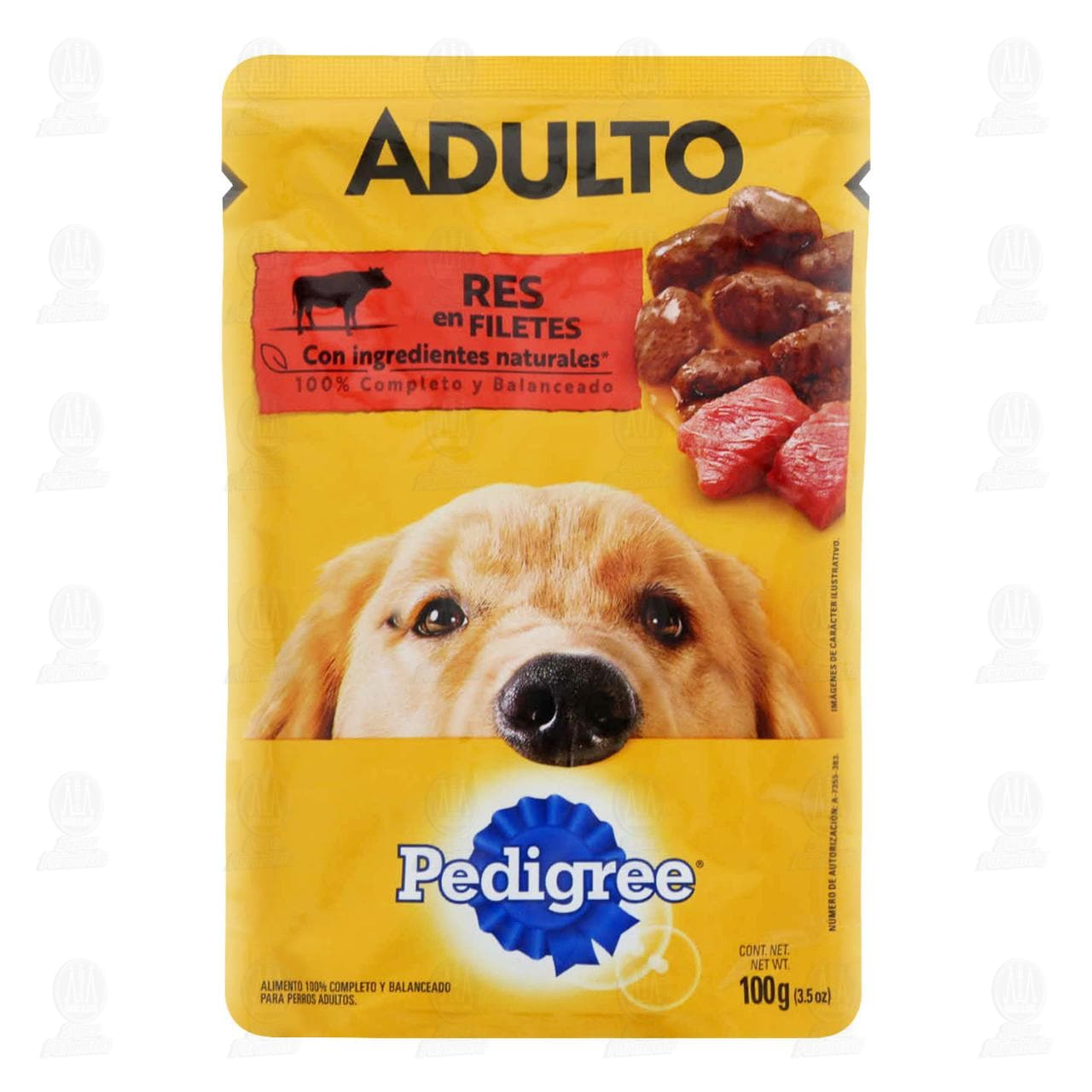 Res en Filetes Pedigree para Perro Adulto, 100 gr.