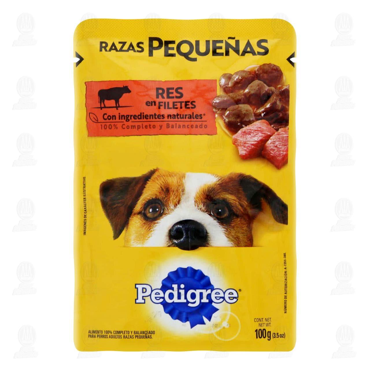 Res en Filetes Pedigree para Perro de Razas Pequeñas, 100 gr.