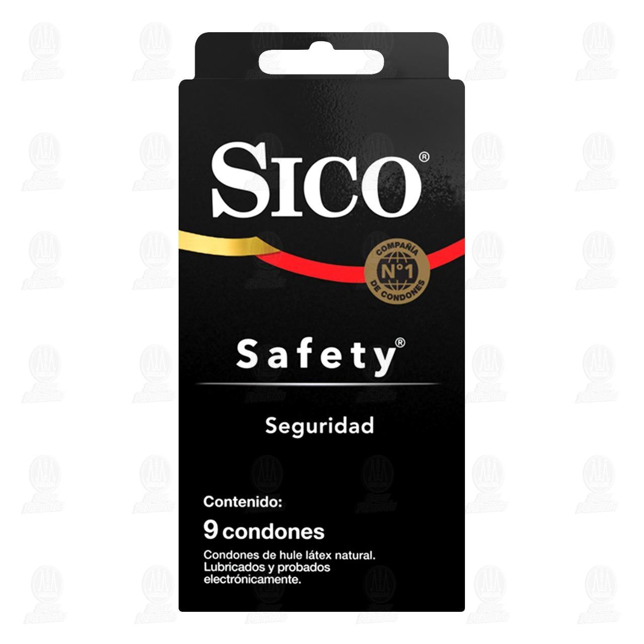 Comprar Sico Safety Cartera con 9 Condones de Látex en Farmacias Guadalajara