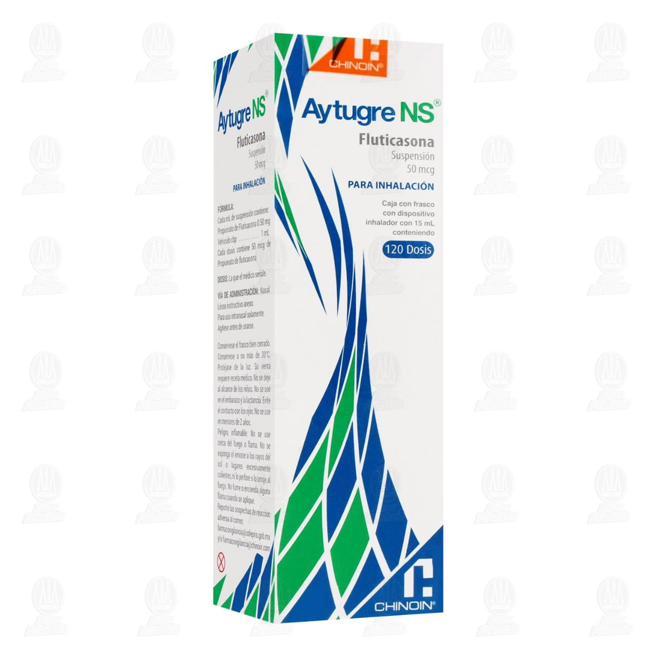 Comprar Aytugre NS 50mcg Suspensión para Inhalación 15ml 120 Dosis en Farmacias Guadalajara