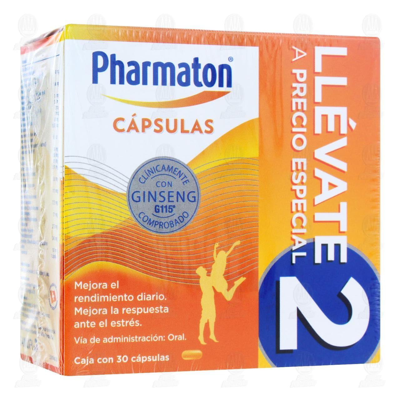Comprar Pharmaton Multivitamínico Duopack 40mg 30 Cápsulas C/U en Farmacias Guadalajara