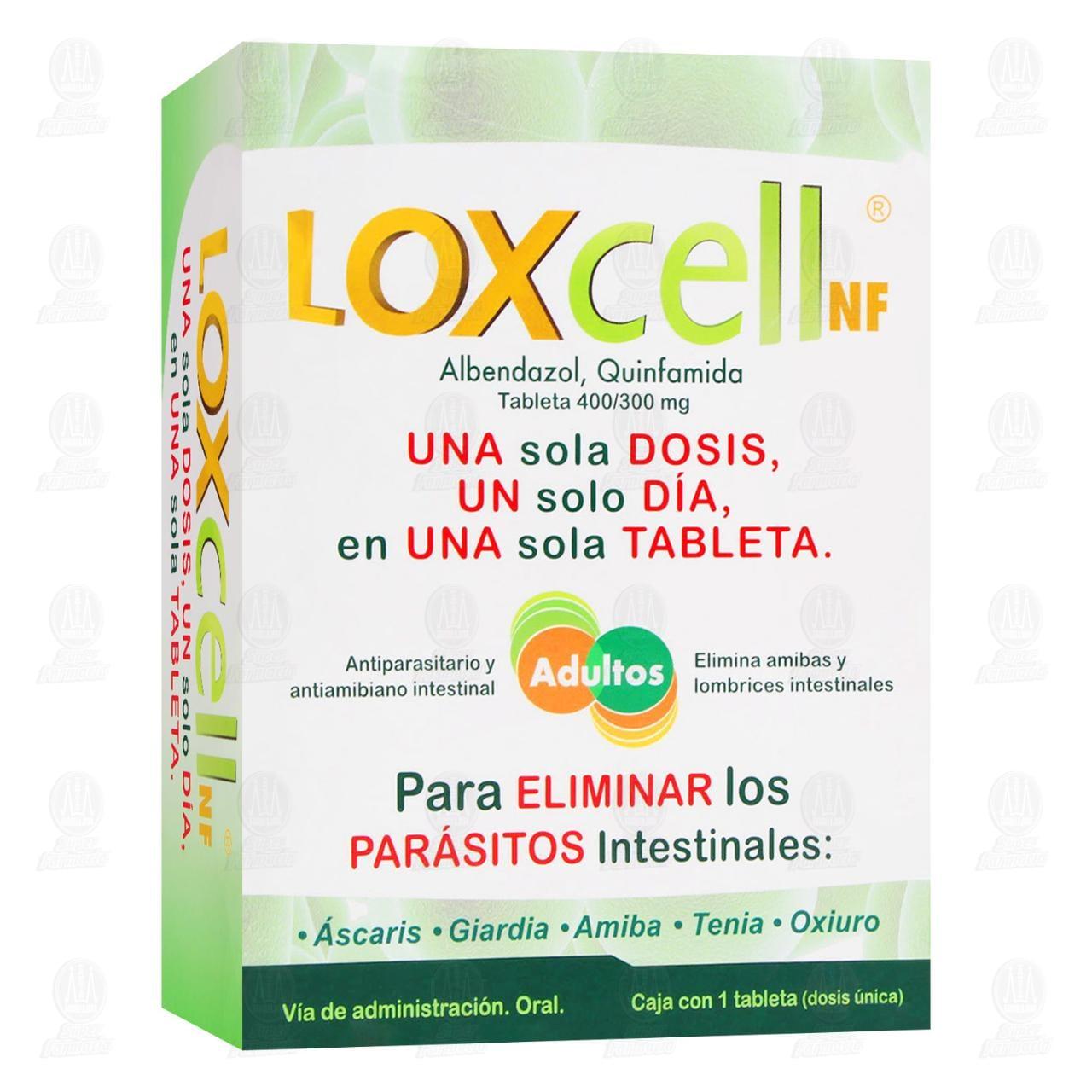 Comprar Loxcell NF 400/300mg 1 Dosis 1 Tableta en Farmacias Guadalajara