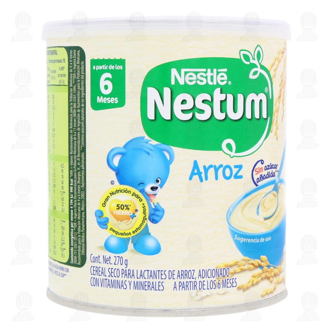 Comprar Cereal Nestum Arroz, a Partir de los 6 Meses, 270 gr. en Farmacias Guadalajara