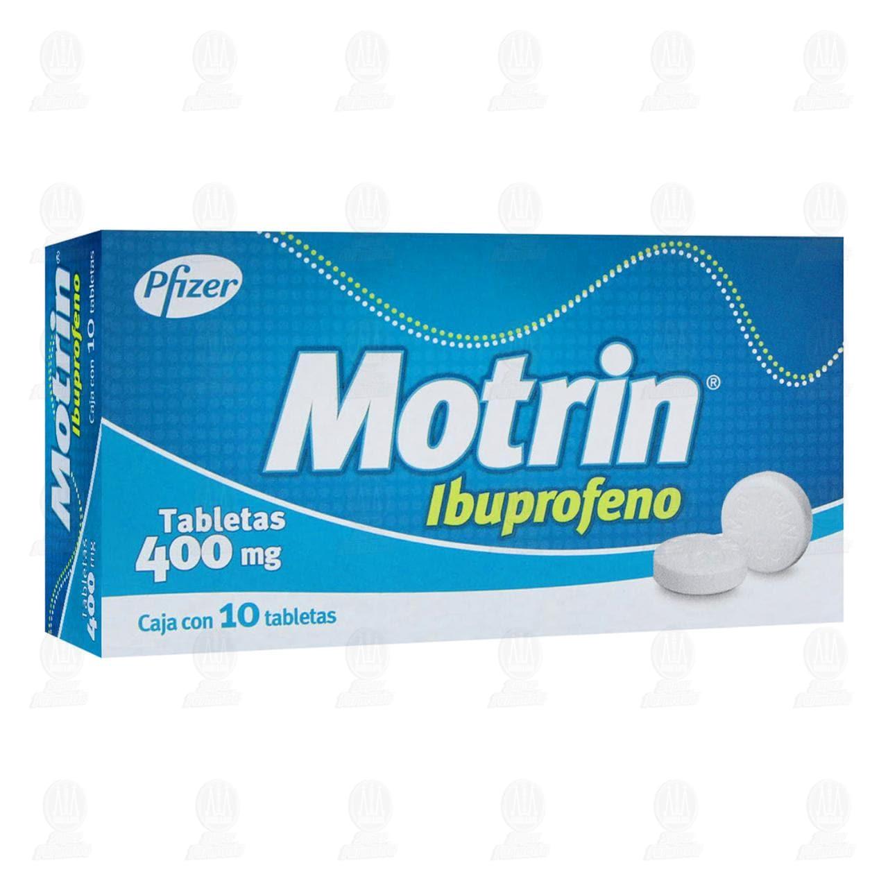 Comprar Motrin 400mg 10 Tabletas en Farmacias Guadalajara