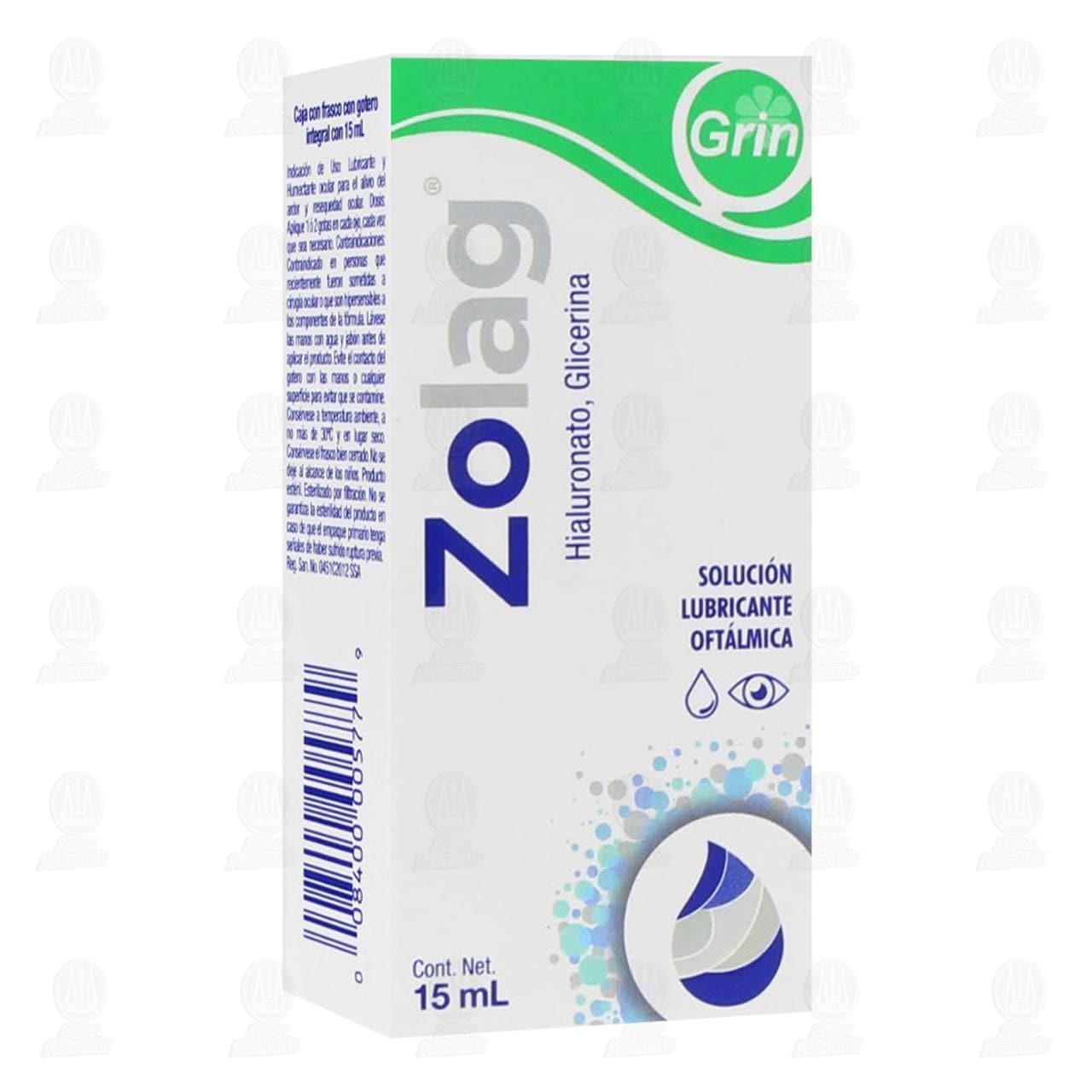Comprar Zolag 15ml Solución Oftálmica Lubricante en Farmacias Guadalajara
