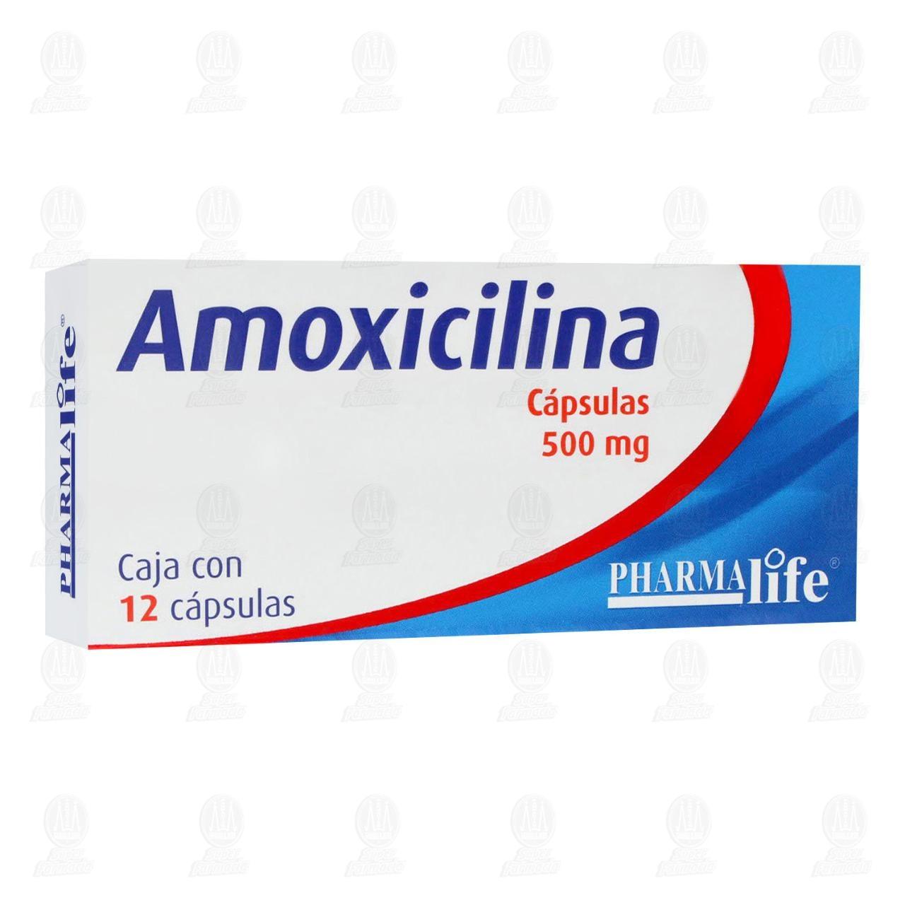 Comprar Amoxicilina 500mg 12 Cápsulas Pharmalife en Farmacias Guadalajara