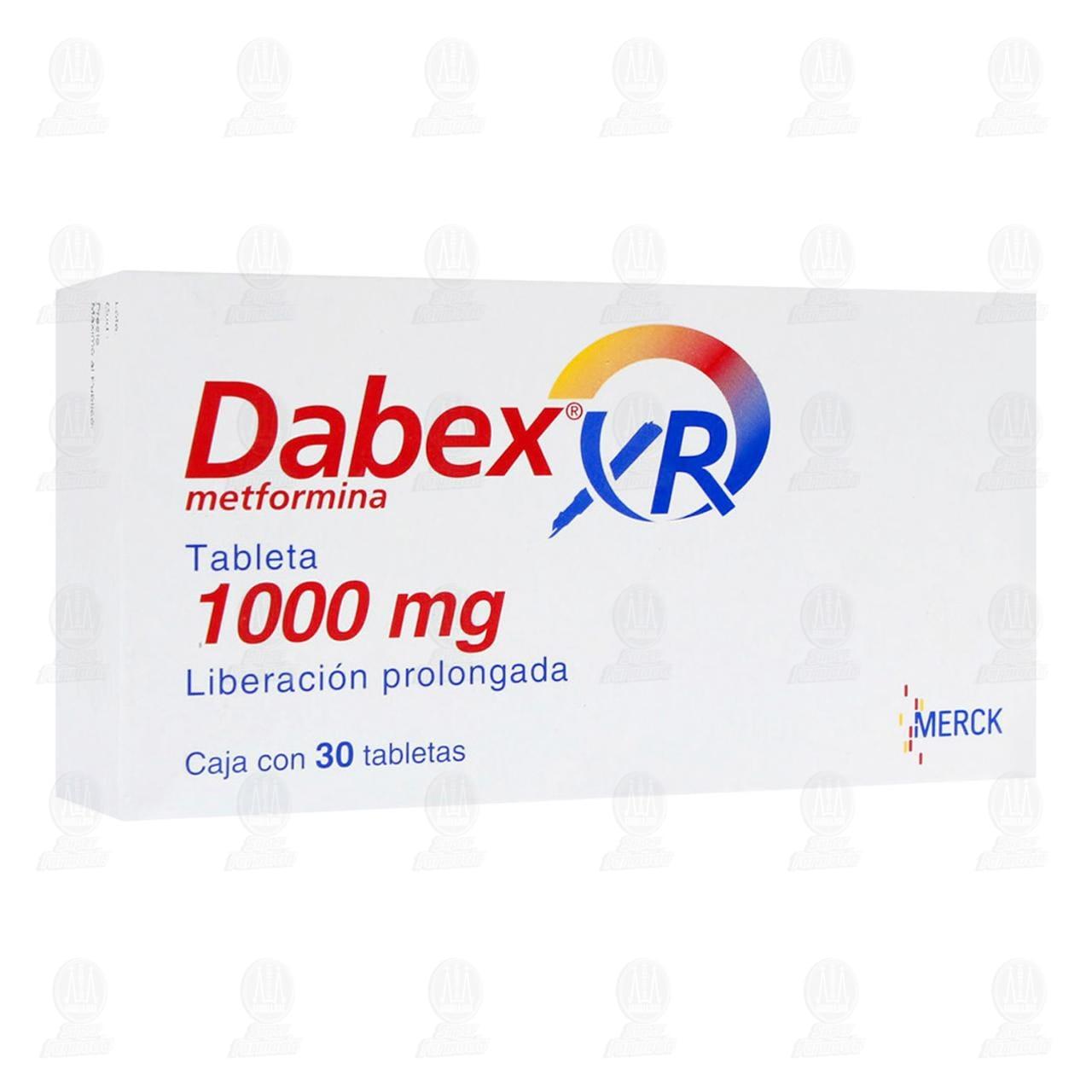 Comprar Dabex XR 1000mg 30 Tabletas Liberación Prolongada en Farmacias Guadalajara