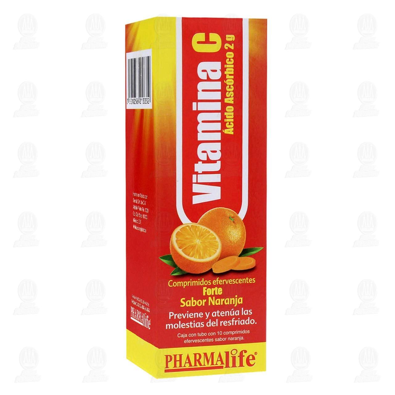 Comprar Vitamina C 2gr 10 Comprimidos Pharmalife en Farmacias Guadalajara