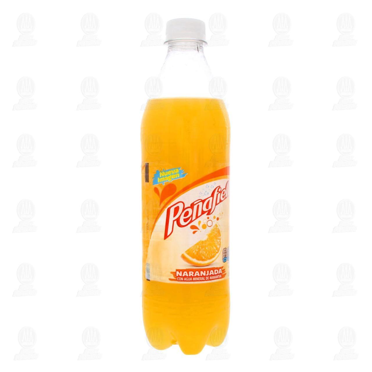 Agua Mineral Peñafiel Naranjada, 600 ml.
