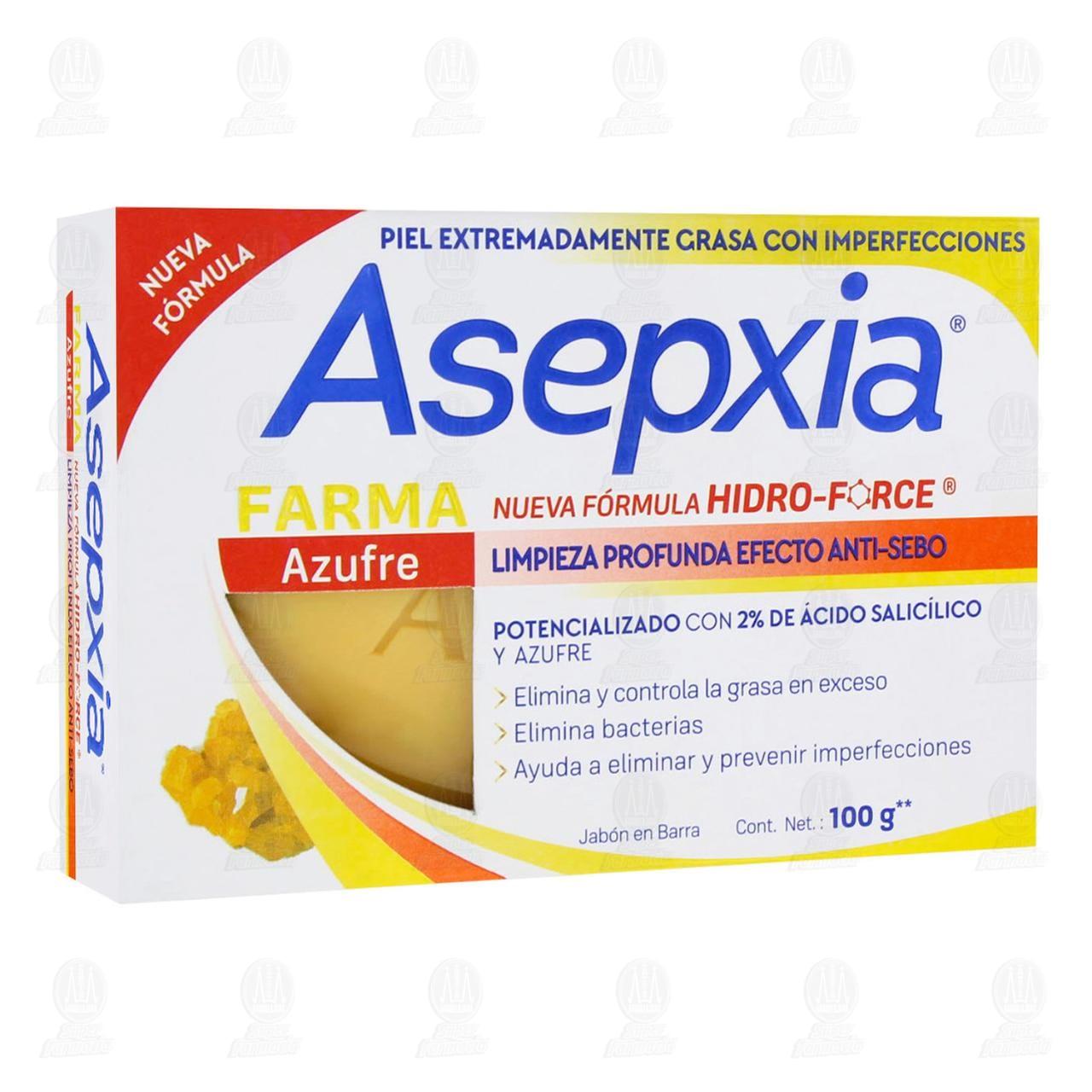 Comprar Jabón Asepxia Farma Azufre en Barra, 100 gr. en Farmacias Guadalajara