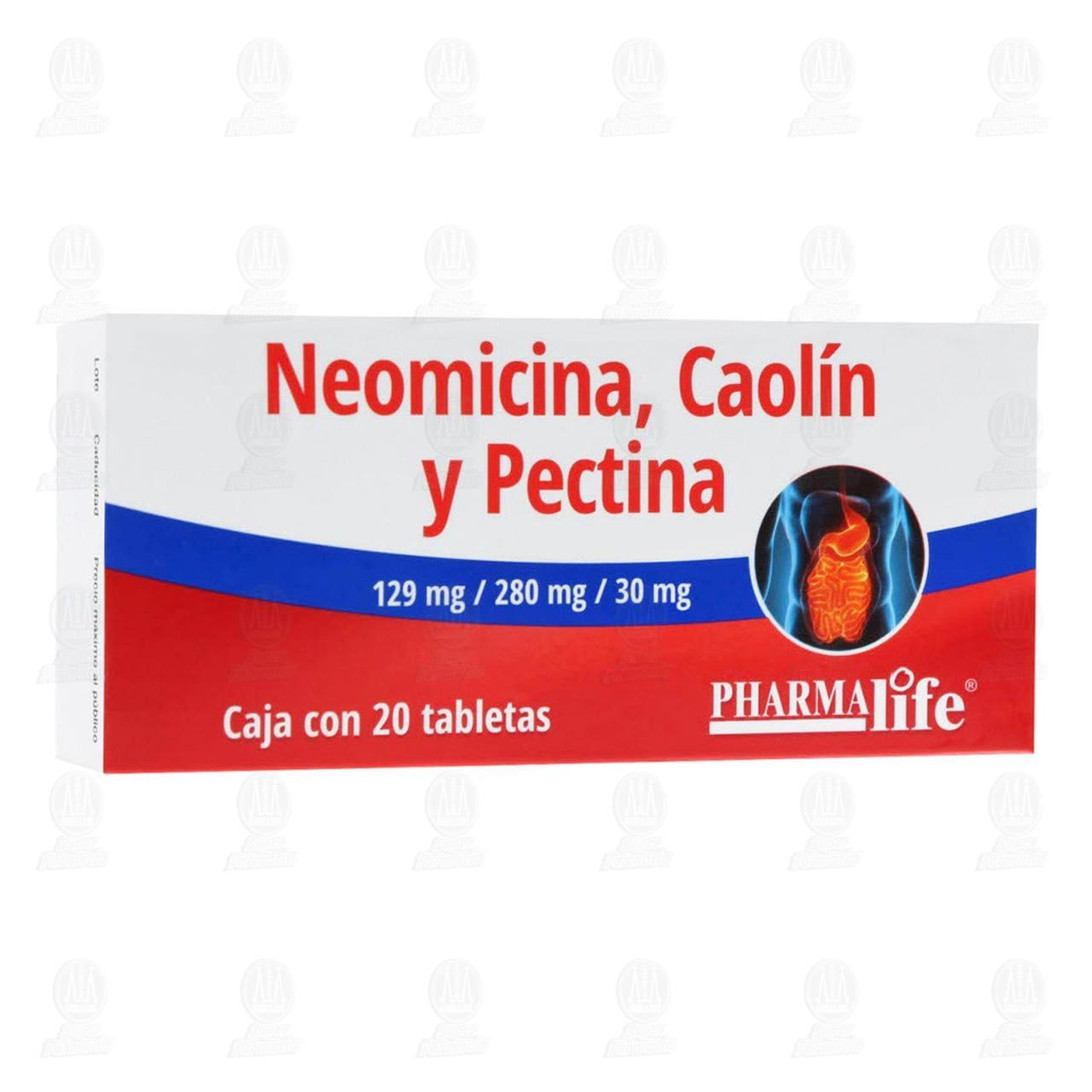 Comprar Neomicina/Caolín y Pectina 20 Tabletas Pharmalife en Farmacias Guadalajara