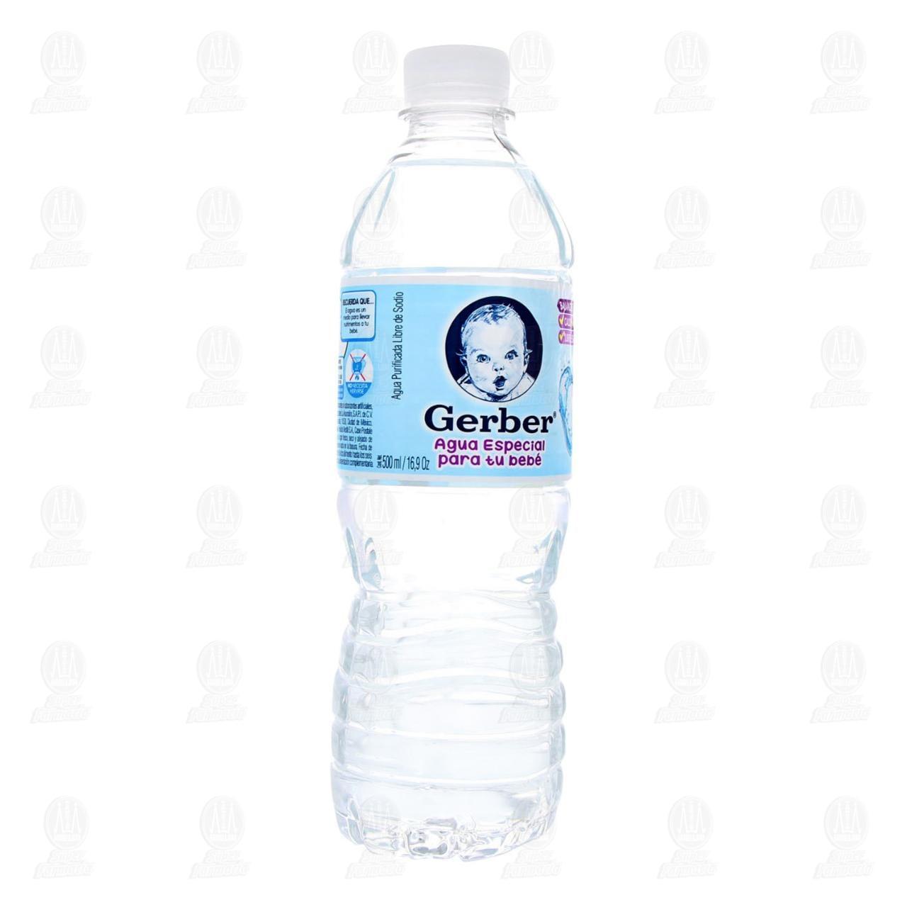 Comprar Agua Gerber Natural, 500 ml. en Farmacias Guadalajara