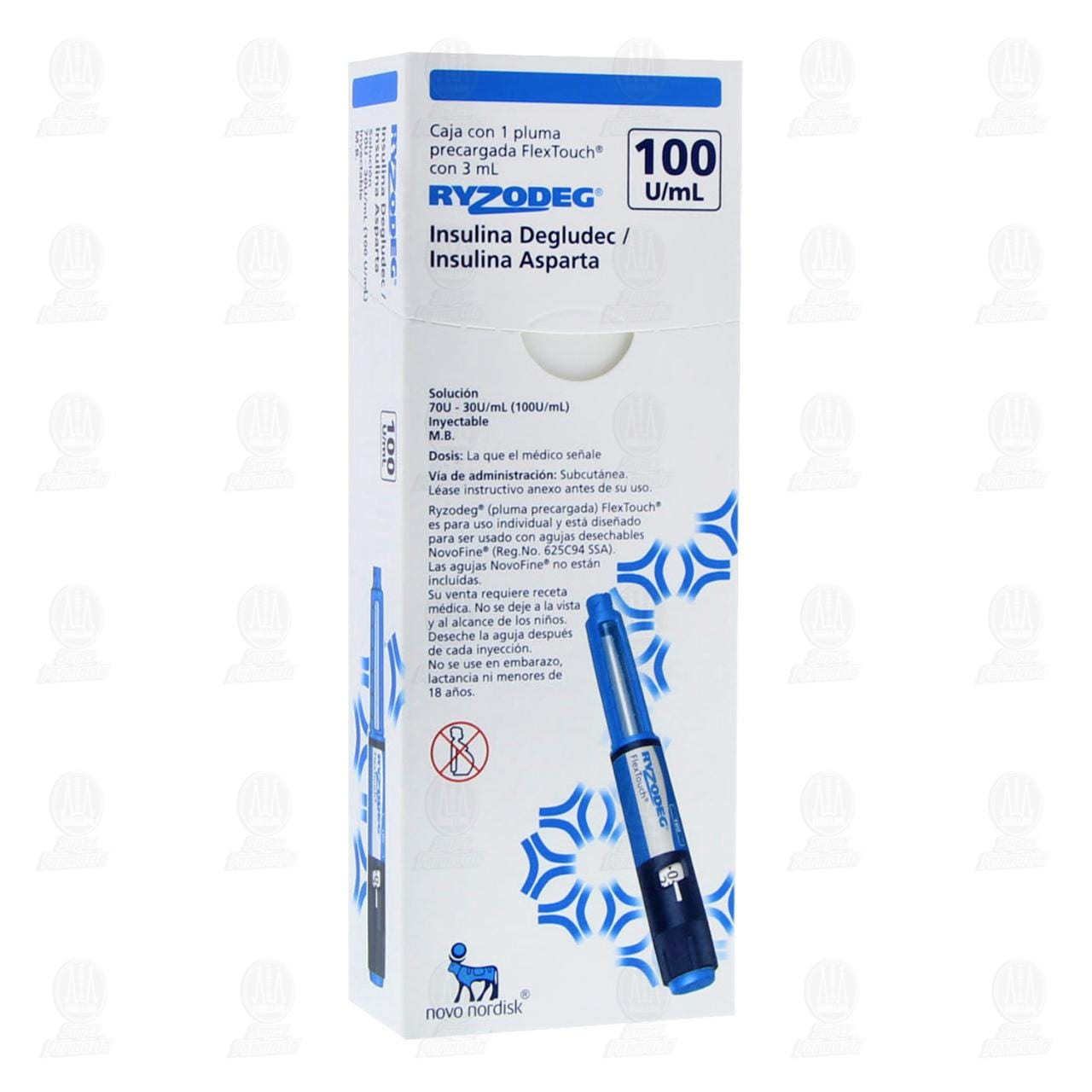 Comprar Ryzodeg Flex Touch 3ml Inyectable 1 Pluma en Farmacias Guadalajara