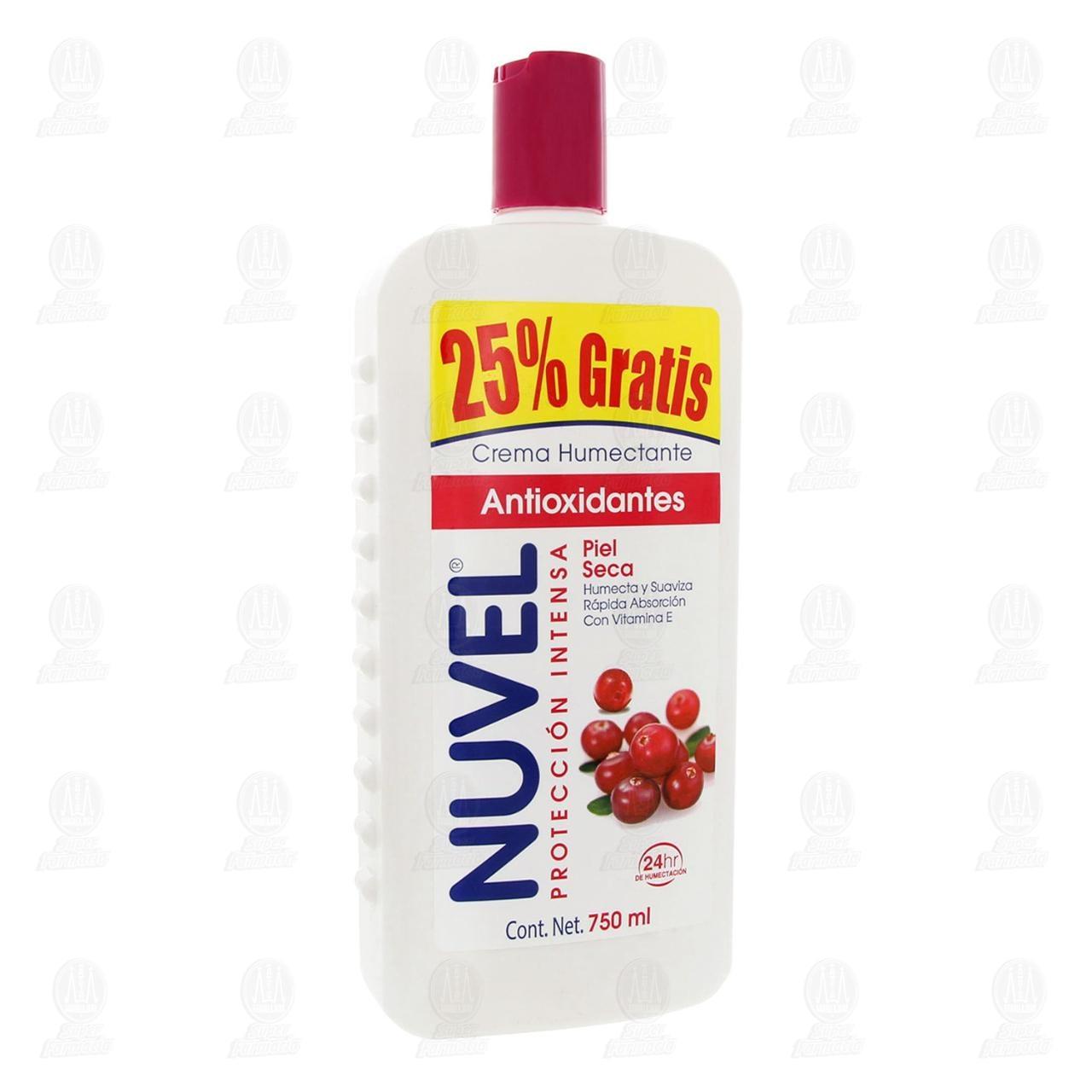 Crema Corporal Nuvel Protección Intensa con Antioxidantes, 750 ml.