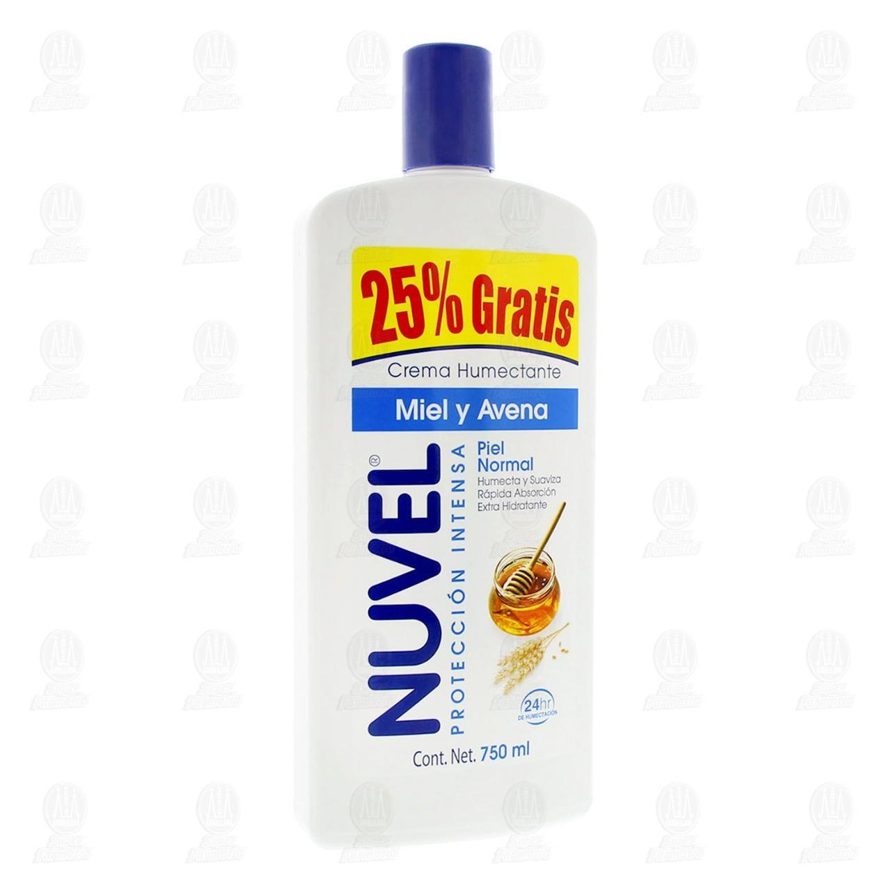 Comprar Crema Humectante Nuvel Protección Intensa con Miel y Avena, 750 ml. en Farmacias Guadalajara