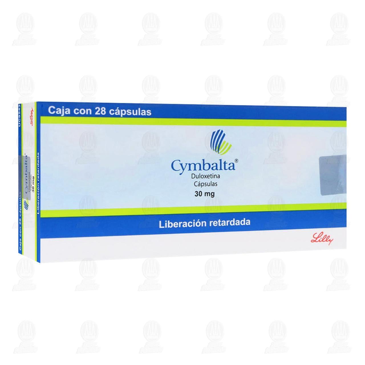 Comprar Cymbalta 30mg 28 Cápsulas en Farmacias Guadalajara