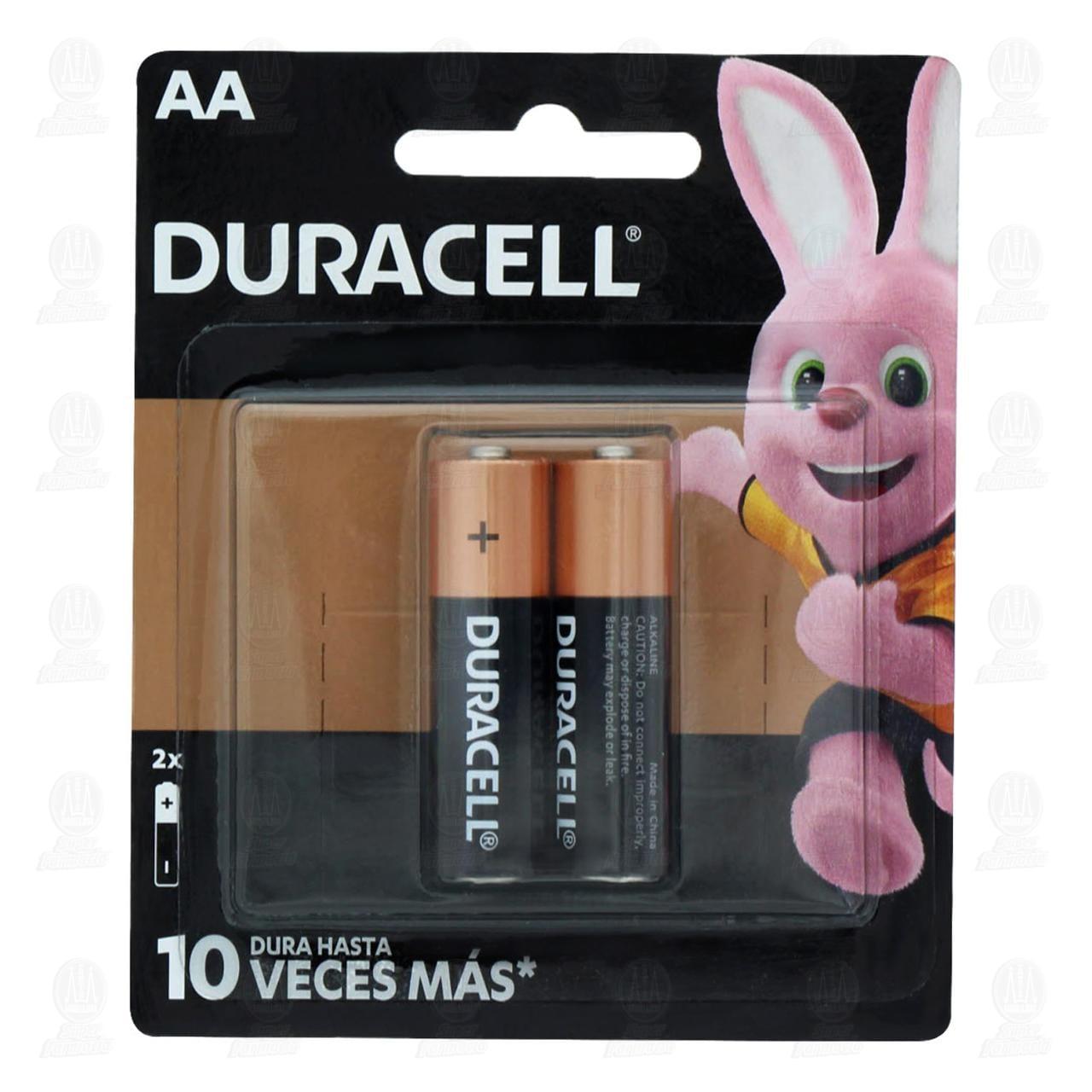 Pilas Duracell Alcalinas AA, 2 pzas.