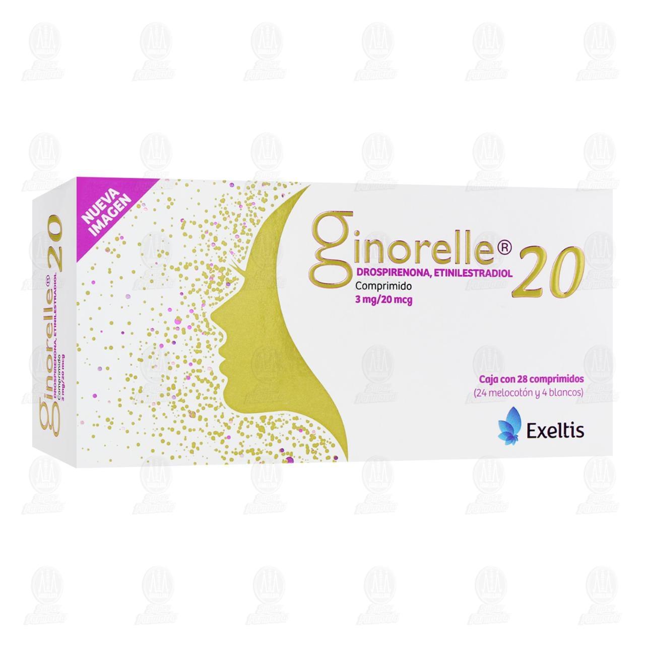 Comprar Ginorelle 20mcg/3mg 28 Comprimidos en Farmacias Guadalajara