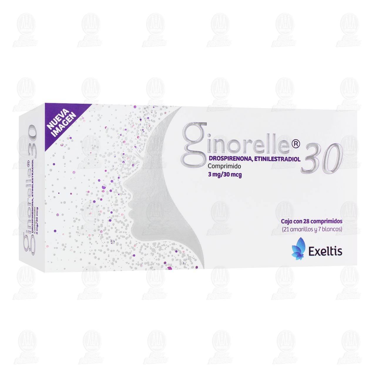 Comprar Ginorelle 30mcg/3mg 28 Comprimidos en Farmacias Guadalajara