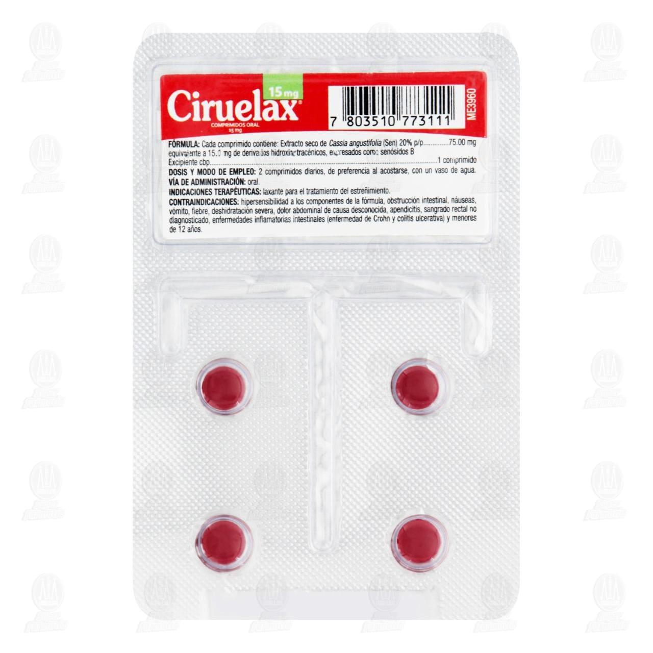 Comprar Ciruelax 4 Comprimidos Blíster en Farmacias Guadalajara