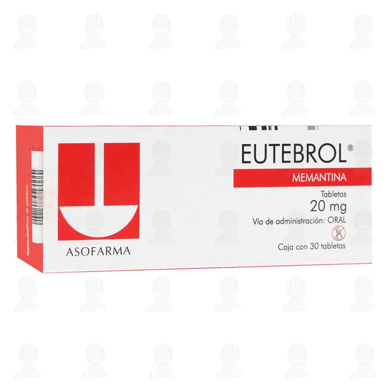 Comprar Eutebrol 20mg 30 Tabletas en Farmacias Guadalajara