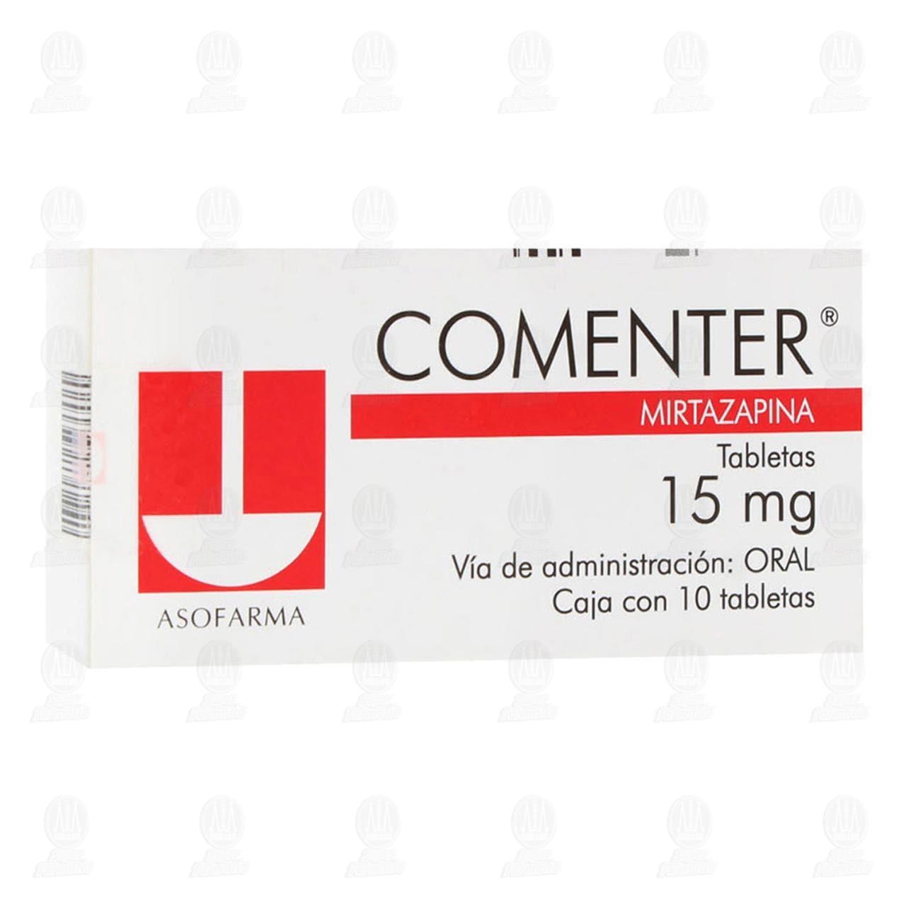 Comprar Comenter 15mg 10 Tabletas en Farmacias Guadalajara