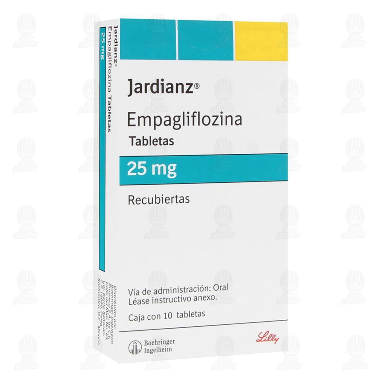 Comprar Jardianz 25mg 10 Tabletas Recubiertas en Farmacias Guadalajara
