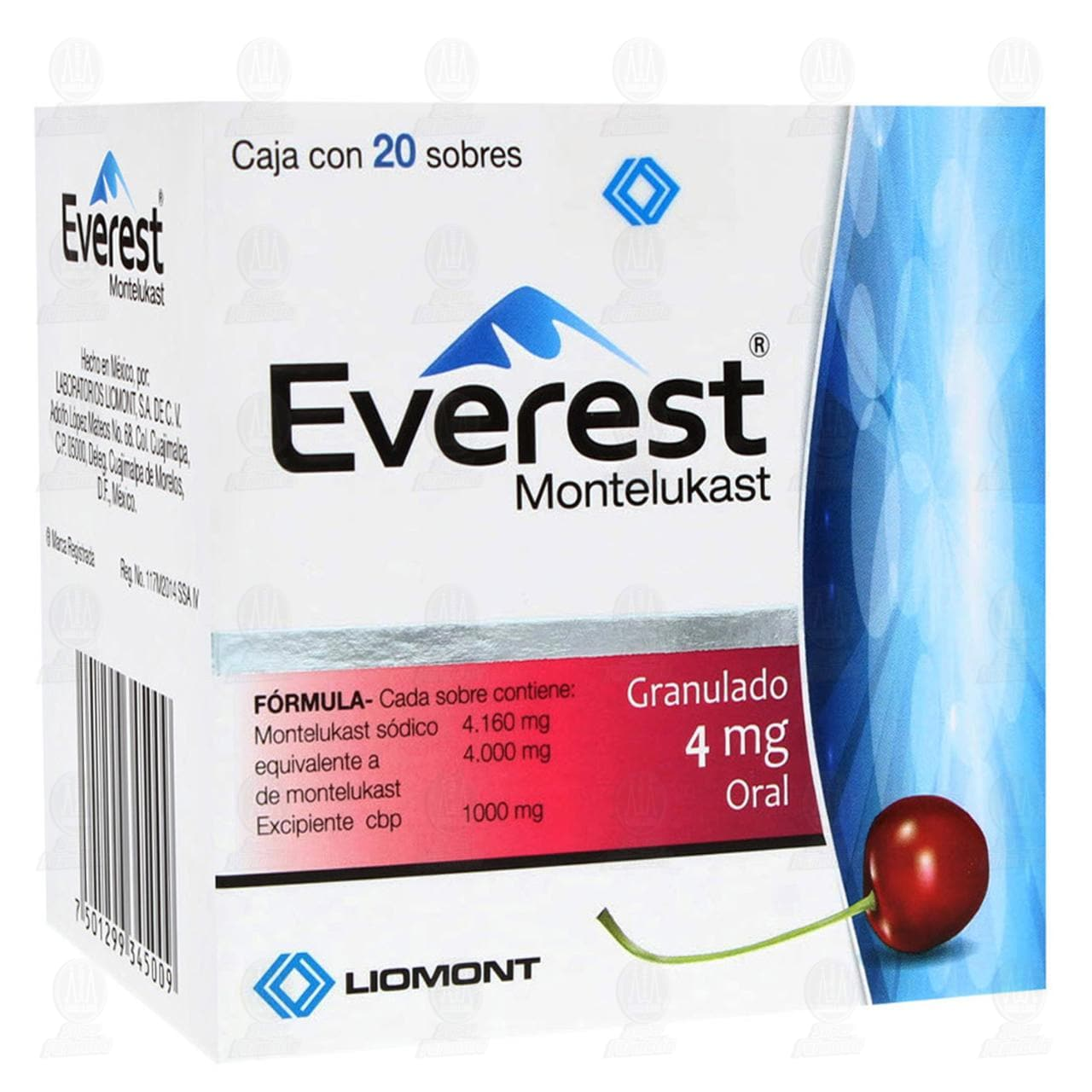 Comprar Everest 4mg Granulado 20 Sobres en Farmacias Guadalajara