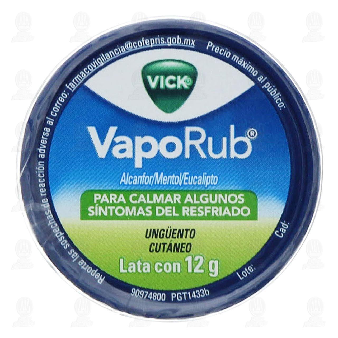 Comprar Vick VapoRub Ungüento 12gr en Farmacias Guadalajara