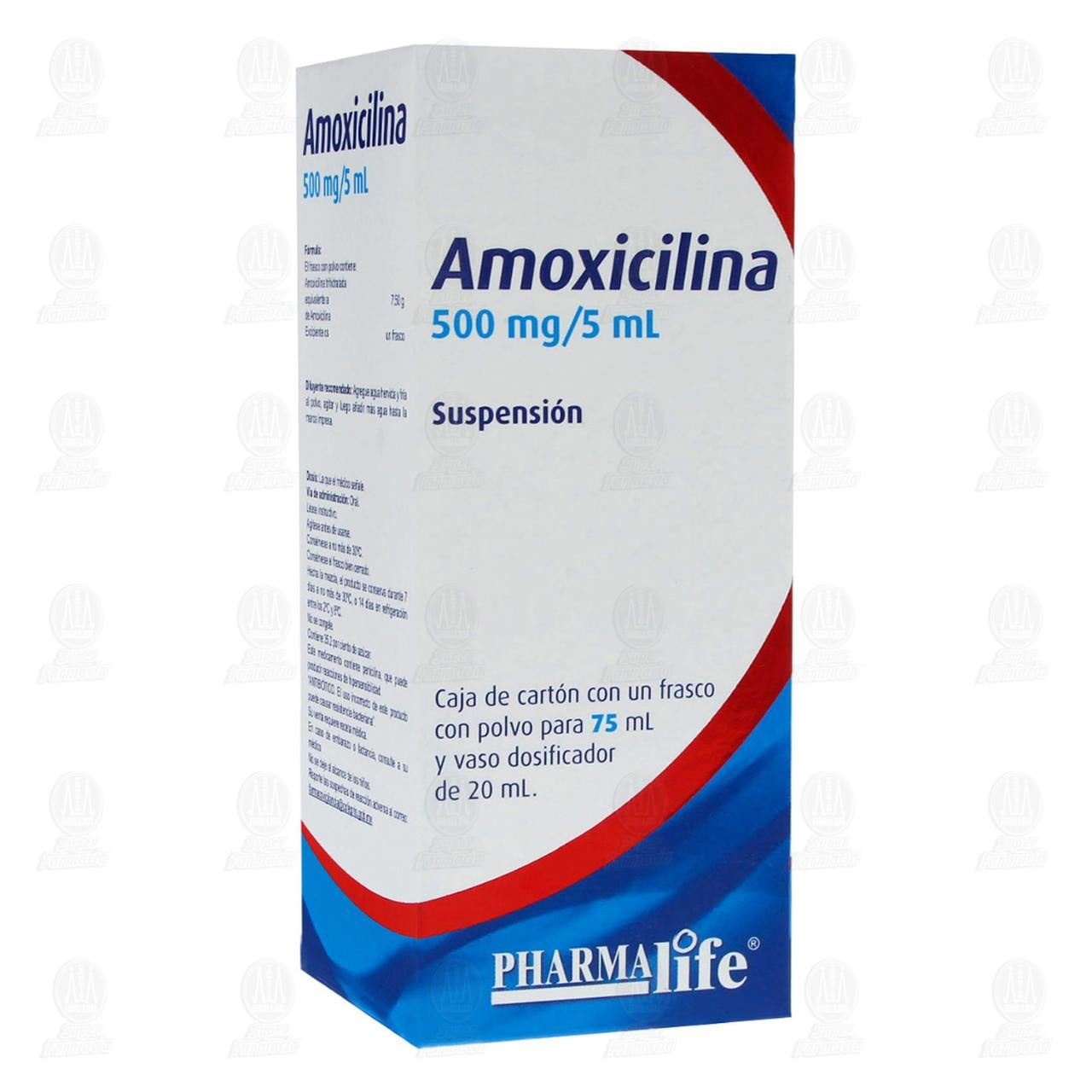 Comprar Amoxicilina 500mg/5m 75ml Suspensión Pharmalife en Farmacias Guadalajara