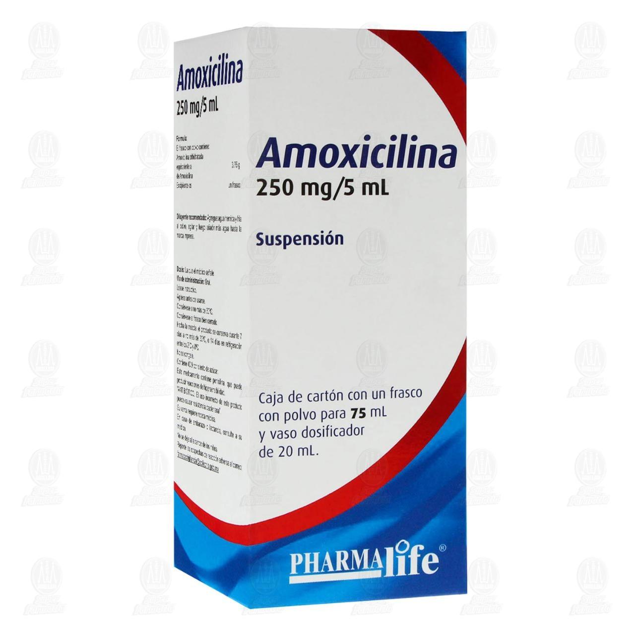 Comprar Amoxicilina 250mg/5ml 75ml Suspensión Pharmalife en Farmacias Guadalajara