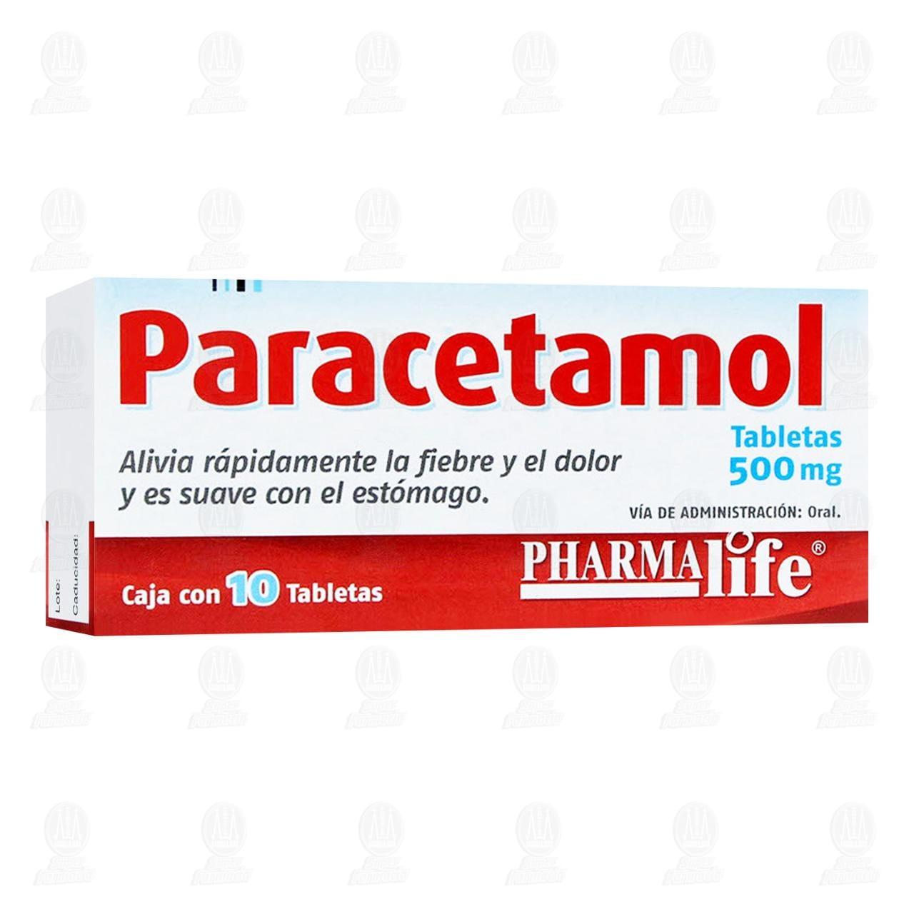Comprar Paracetamol 500mg 10 Tabletas Pharmalife en Farmacias Guadalajara