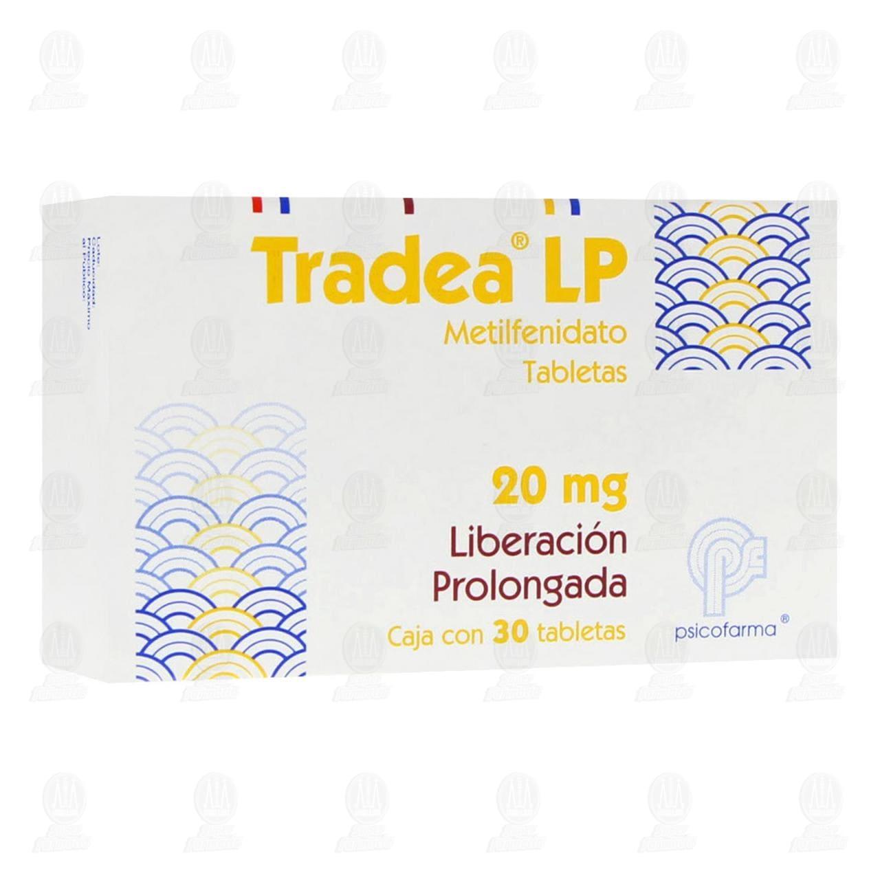 Tradea LP 20mg 30 Tabletas Liberación Prolongada